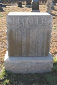 Sam Blonger's headstone, from the north?