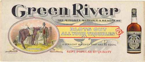 Green River Whiskey ad
