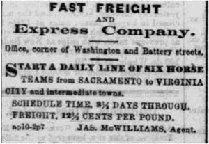 Fast Freight, 1864